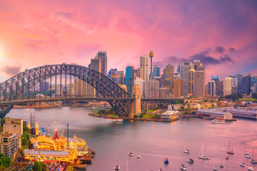 Foto op Canvas Sydney Downtown Sydney skyline