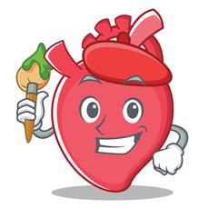 Artist heart character cartoon style