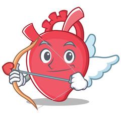 Cupid heart character cartoon style