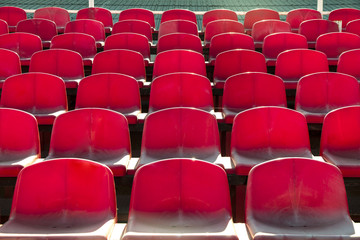 red empty stadium seats