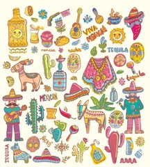 Mexico illustrations collection