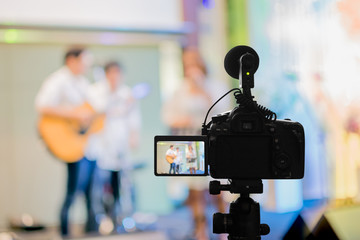 Covering an event on stage with a video camera