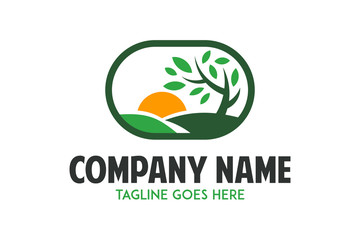 agriculture organic logo illustration