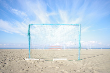 football goal beach summer