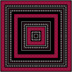 Print square bandana style