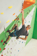 young people make Indoor climb sport