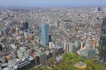 Tokyo downtown streets Shinjuku skyscrapers