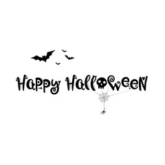 Halloween background black and white with bat