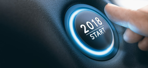2018 Car Start Button, Two Thousand Eighteen Background.