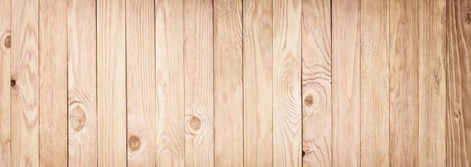 Panorama of light wooden texture. Desktop background