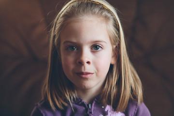closeup of young girl's face