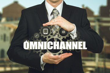 The concept of Omnichannel between devices to improve the performance of the company. Innovative solutions in business
