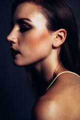 Intense Portrait of Beautiful Woman