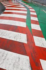 Pedestrian crossing & cycle path, Spain