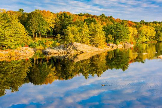Androscoggin River, Brunswick, Maine, USA