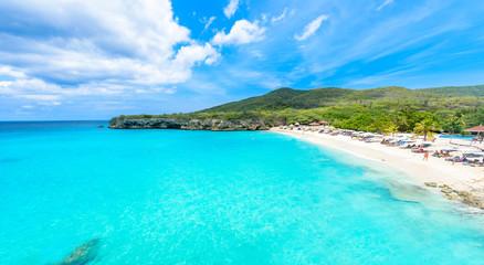Grote Knip beach, Curacao, Netherlands Antilles - paradise beach on tropical caribbean island Wall mural