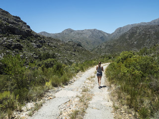 """This is a typical scene of the South African mountain """"Velt"""""""
