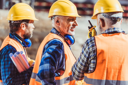 Construction workers in uniform