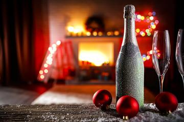 christmas time and wine