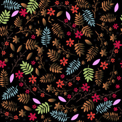 Seamless floral ornament. Vintage floral pattern for textiles, Wallpaper, packaging.