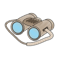 colored binocular doodle over white background  vector illustration