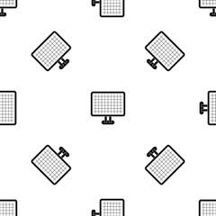 Computer monitor pattern seamless black
