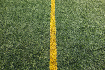 Boundary lines on athletic field