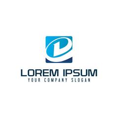 modern letter d logo. tech design concept template