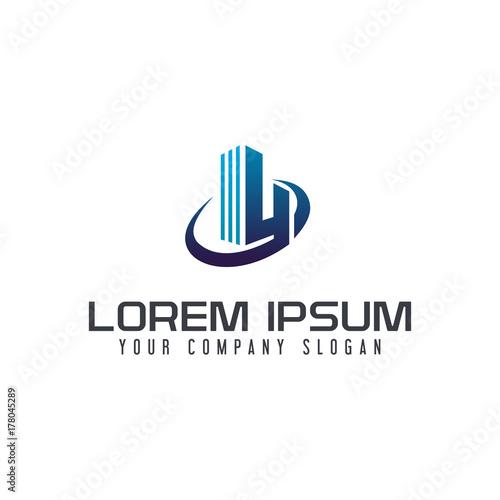 letter y construction building logo design concept template