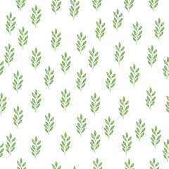 Hand drawn seamless herb pattern