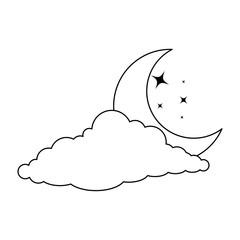cloud sky with moon