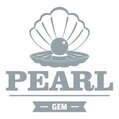Pearl gem logo, simple gray style