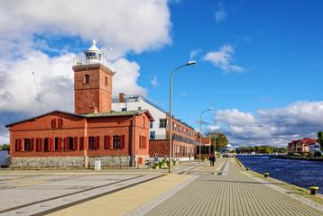 Leuchtturm Tag  Darlowko Gebäude Ostsee