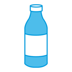 Water glass bottle icon vector illustration graphic design
