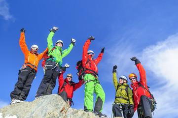 große Euphorie in der Gruppe am Gipfel
