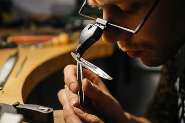 A young jeweller working