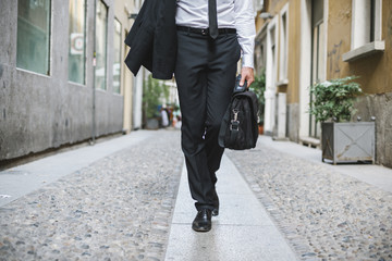 Young businessman in the streets of Milano - Italy