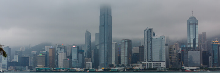Hong Kong in de wolken
