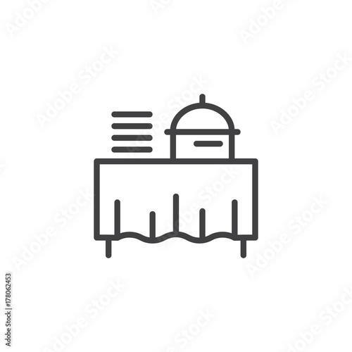 Setout line icon outline vector sign linear style pictogram setout line icon outline vector sign linear style pictogram isolated on white buffet ccuart Images