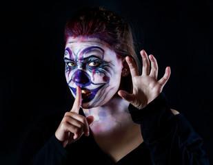 Halloween ugly clown