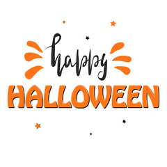 Happy Halloween banner, card, label.