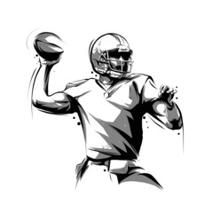 american football player throwing