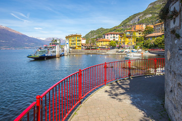 Wall Mural - Varenna town with view of Lake Como in Lecco, Lombardy, Italy