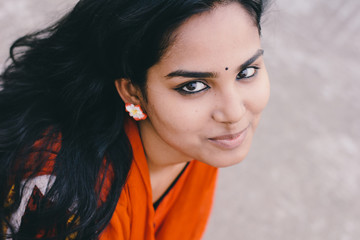 portrait of beautiful bengali woman