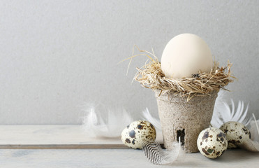 Simple easter decoration with egg