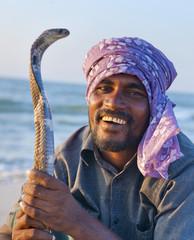 Snake charmer in Sri Lanka