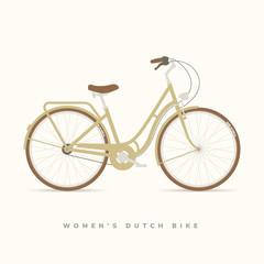 Womens Classic Dutch bike, vector illustration