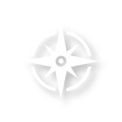 Icon mit Schatten - Kompass
