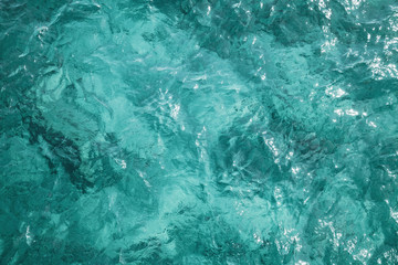 Blue ocean water surface, background photo