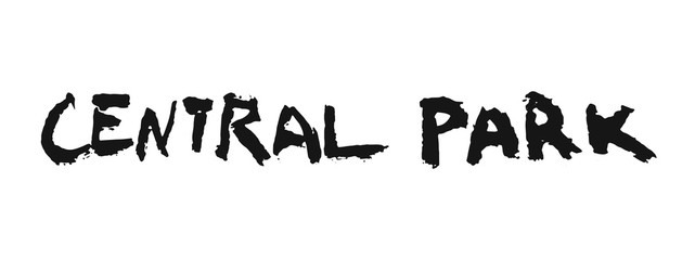Hand writing word Central Park in grunge style on white background